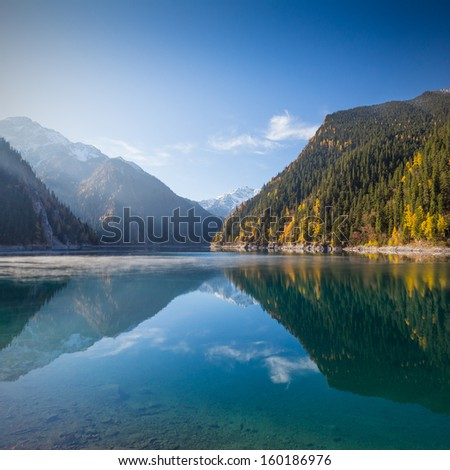 Jiuzhaigou Valley Scenic and Historic Interest Area, Sichuan, China - stock photo