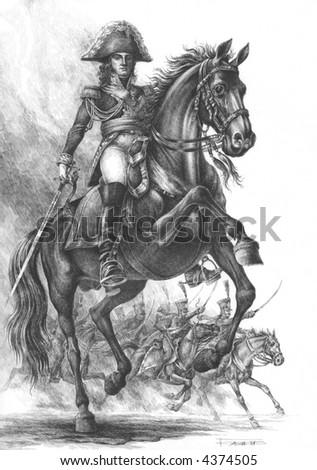 Joachim Murat, King of Naples, Marshal of France. Cavalry Commander. - stock photo