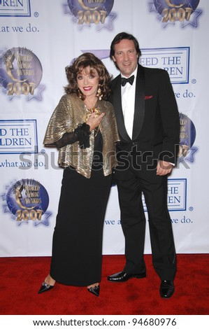 Joan Collins & husband Percy Gibson at the 2007 World Magic Awards at Barker Hanger, Santa Monica Airport. October 13, 2007  Los Angeles, CA Picture: Paul Smith / Featureflash