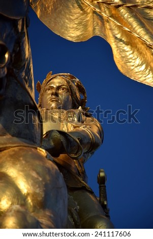 Joan of Arc Statue, New Orleans. - stock photo