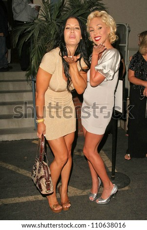 Joanie Laurer and Mary Carey at the premiere of ANNA NICOLE. Fox Studios, Los Angeles, CA. 08-30-07 - stock photo