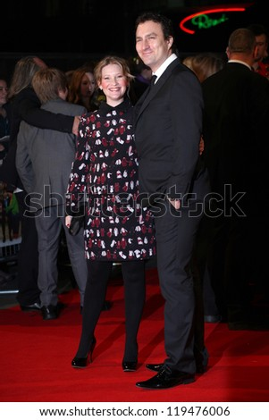Joanna Page and James Thornton arriving for the Nativity 2: Danger In The Manger Premiere, at Empire Leicester Square, London. 13/11/2012 Picture by: Alexandra Glen