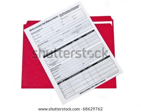 Job Application Folder - stock photo