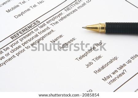 job application form - stock photo