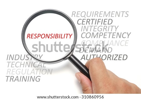 Job competency conceptual, focus on the word Responsibility