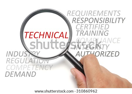 Job competency conceptual, focus on the word Technical