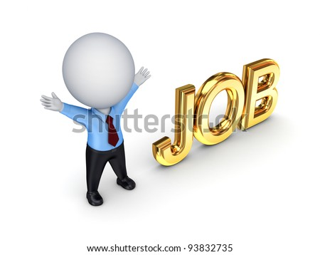 JOB concept.Isolated on white background. 3d rendered.