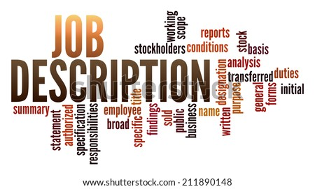 Job Description Word Collage Stock Illustration 211890148