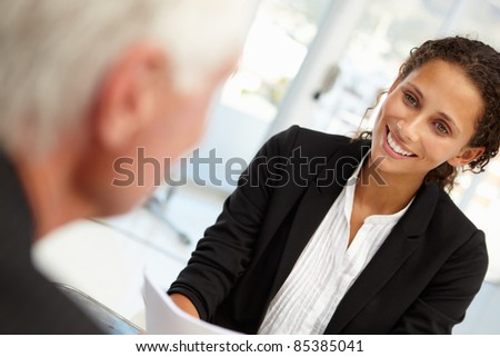 Job interview - stock photo