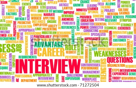 Job Interview Concept with Career Questions Idea