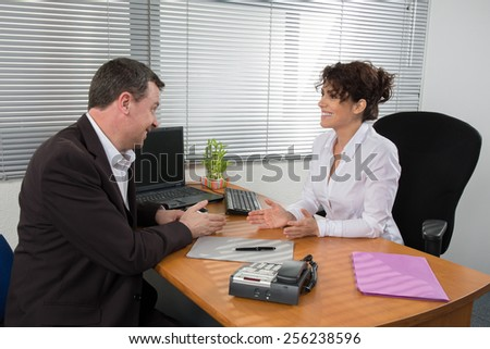 Job interview or meeting situation - stock photo