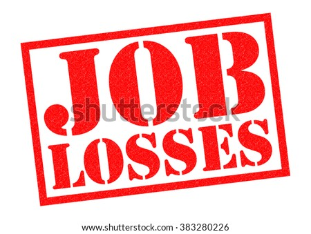 JOB LOSSES red Rubber Stamp over a white background. - stock photo