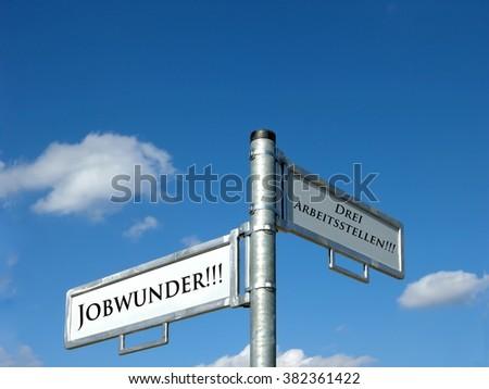 Job miracle - Three jobs - stock photo