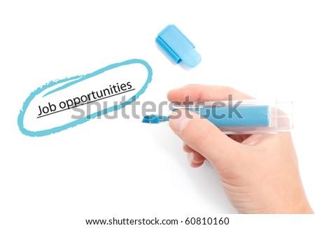 Job opportunities - stock photo