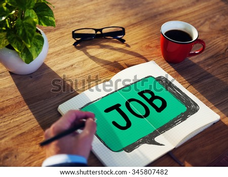 Job Profession Hiring Occupation Employment Concept - stock photo