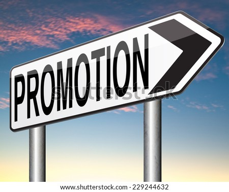 job promotion or sales promotions of a product or service - stock photo