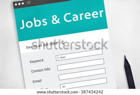 Job Search Career Recruitment Employment Occupation Concept