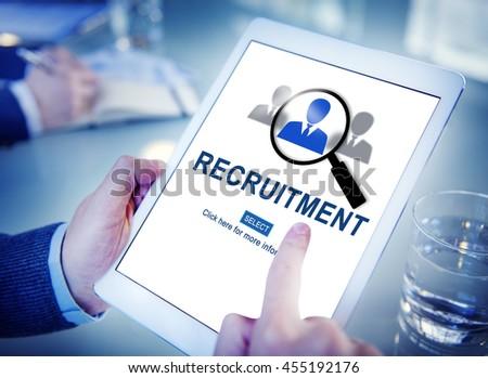 Job Search Hiring Website Word Concept - stock photo