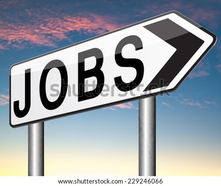 job vacancy search and find jobs start new career - stock photo