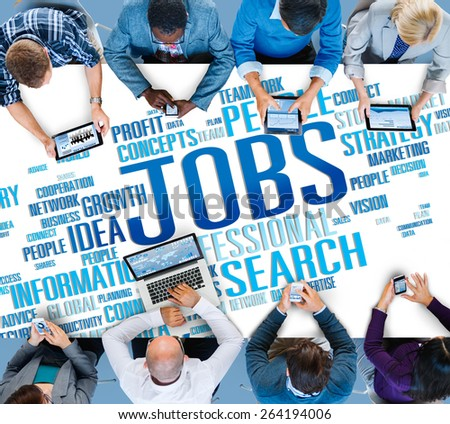 Jobs Occupation Careers Recruitment Employment Concept - stock photo