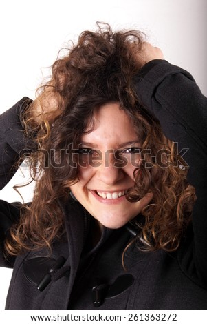Jocking girl - stock photo