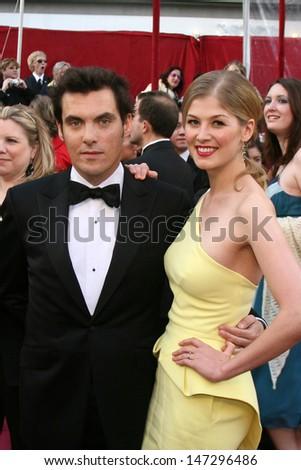 Joe Wright & Rosamund Pike 80th Academy Awards ( Oscars) Kodak Theater Los Angeles, CA February 24, 2008 - stock photo