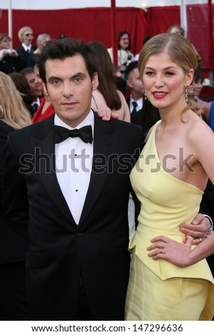 Joe Wright & Rosamund Pike 80th Academy Awards ( Oscars) Kodak Theater Los Angeles, CA February 24, 2008