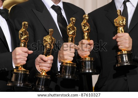 Joel Cohen & Ethan Cohen & Scott Rudin at the 80th Annual Academy Awards at the Kodak Theatre, Hollywood. February 24, 2008 Los Angeles, CA Picture: Paul Smith / Featureflash - stock photo
