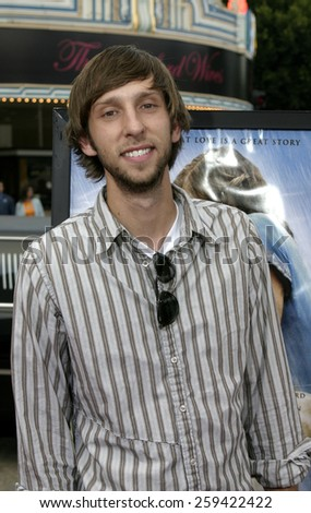 """Joel David Moore at the """"The Notebook"""" Los Angeles Premiere held at the Mann Village Theatre in Westwood, California United States on June 21 2004. - stock photo"""