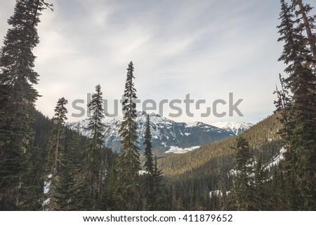 Joffre lake hiking views - stock photo