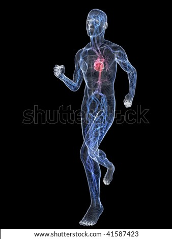 jogger - wire - stock photo