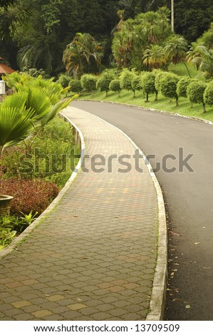 Jogging Path - stock photo