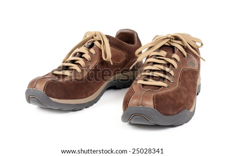 Jogging shoes isolated on white background - stock photo