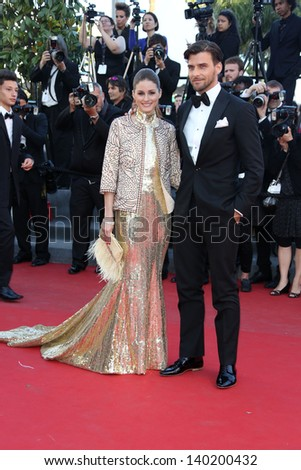 Johannes Huebl and Olivia Palermo at the 66th Cannes Film Festival - The Immigrant premiere, Cannes, France. 24/05/2013 - stock photo