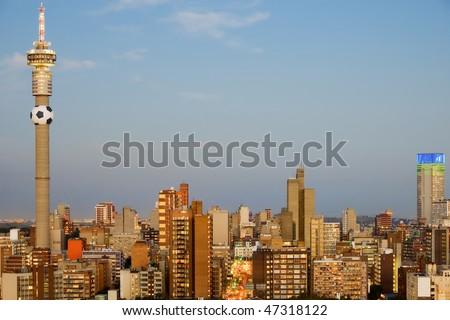 Johannesburg, South Africa - 2010 World Cup Host City - stock photo