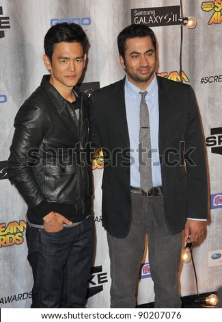 John Cho & Kal Penn (right) at the 2011 Spike TV Scream Awards at Universal Studios, Hollywood. October 15, 2011  Los Angeles, CA Picture: Paul Smith / Featureflash - stock photo