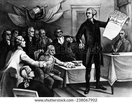 John Hancock signs the Declaration of Independence 1776