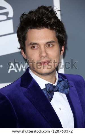 John Mayer at the 55th Annual GRAMMY Awards, Staples Center, Los Angeles, CA 02-10-13 - stock photo