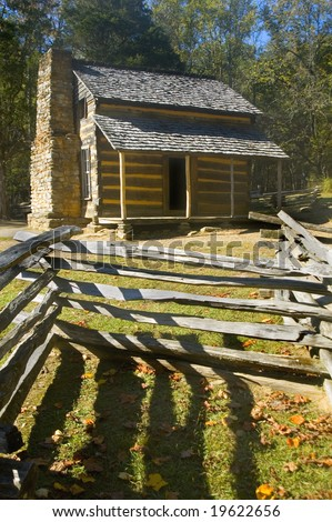 John Oliver Cabin, Cades Cove, Great Smoky Mountains National Park, Tennessee - stock photo