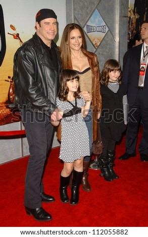 "John Travolta and Kelly Preston with family at the world premiere of ""Wild Hogs"". El Capitan Theatre, Hollywood, CA. 02-27-07"