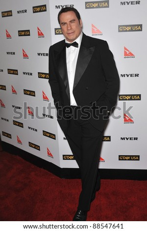 John Travolta at the 2010 G'Day USA Australia Week Black Tie Gala at the Grand Ballroom at Hollywood & Highland. January 16, 2010  Los Angeles, CA Picture: Paul Smith / Featureflash - stock photo