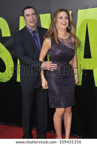 "John Travolta & wife Kelly Preston at the world premiere of his movie ""Savages"" at Man Village Theatre, Westwood. June 26, 2012  Los Angeles, CA Picture: Paul Smith / Featureflash"