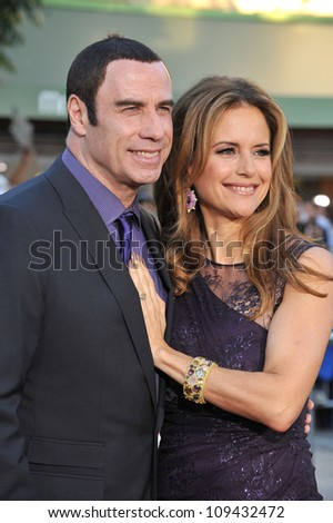 "John Travolta & wife Kelly Preston at the world premiere of his movie ""Savages"" at Man Village Theatre, Westwood. June 26, 2012  Los Angeles, CA Picture: Paul Smith / Featureflash - stock photo"
