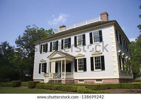 John Wright Stanly House in New Bern, North Carolina - stock photo