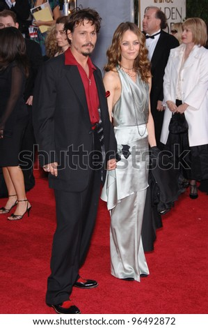 JOHNNY DEPP & VANESSA PARADIS at the 63rd Annual Golden Globe Awards at the Beverly Hilton Hotel. January 16, 2006  Beverly Hills, CA  2006 Paul Smith / Featureflash - stock photo
