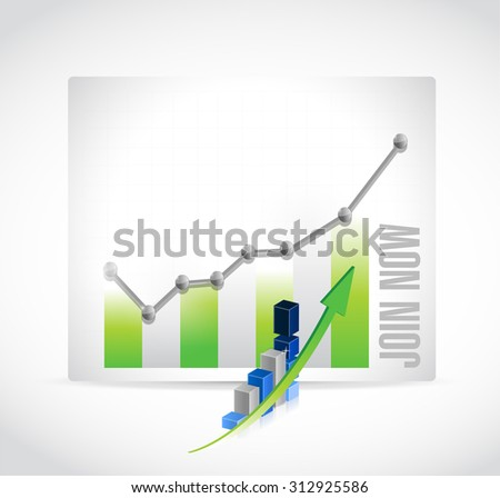 Join Now business graph sign concept illustration design graphic - stock photo