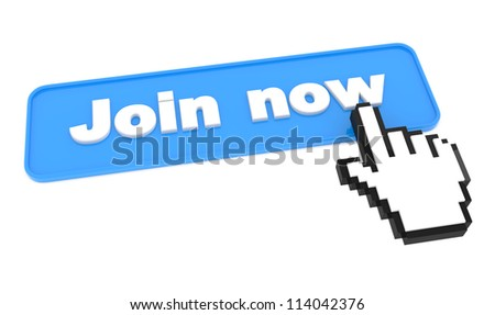 Join Now - Button. Element for Your Site. - stock photo