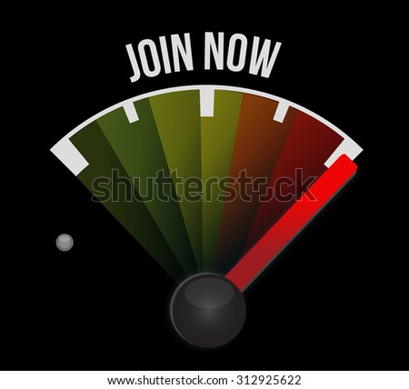 Join Now meter sign concept illustration design graphic - stock photo