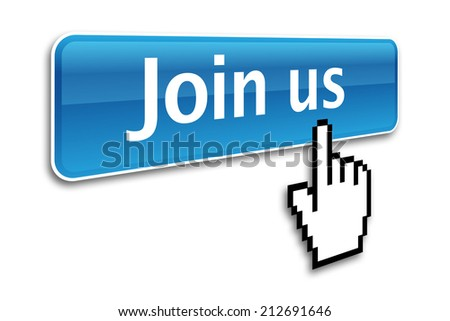 Join us icon with computer cursor - stock photo