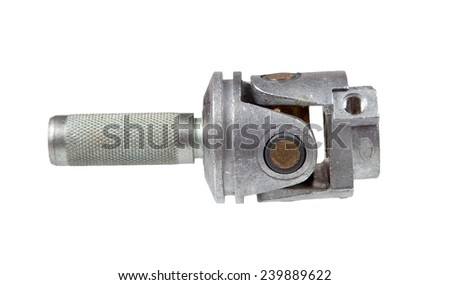 Joint drive on white background - stock photo